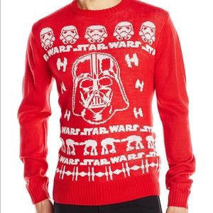 New Men's Star Wars holiday Christmas sweater